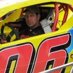 Les Hinckley III behind the wheel of the Chuck Montville owned Valenti Modified Racing Series car.