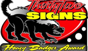 Honey Badger Award Graphic