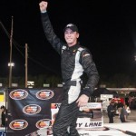 Ben Kennedy celebrates Saturday at Five Flags Speedway (Photo: Getty Images for NASCAR)