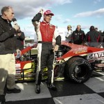 Mike Stefanik celebrates in victory lane Sunday at Thompson Speedway (Photo: Jeff Zelevansky/Getty Images for NASCAR)