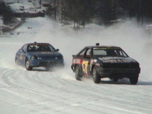 Joey Ferrigno doing some ice racing